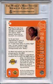 The Upper Deck Company Llc Linkedin by Lot Detail 1996 97 Upper Deck Rookie Exclusives R10 Kobe Bryant