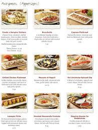 line Menu for Olive Garden in Palo Alto California United States