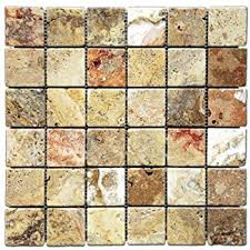 Valencia Scabos Travertine Tile by Scabos Travertine 4 Pieced Opus Mini Pattern Tumbled Mosaic Tile