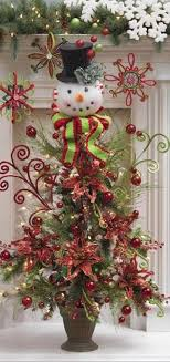 Small Christmas Tree With Snowman Topper