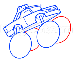 Step 6. Drawing A Monster Truck Easy