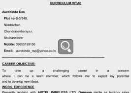 Interesting Job Resume Sample India For Mid Level Experienced Professionals