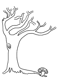 Tree Without Leaves Coloring Page To Print And Download For Kids