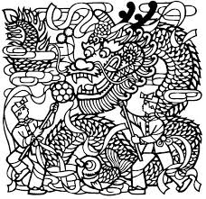 Adult Coloring Page China Chinese Dragon Dance 3