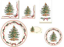Spode Christmas Tree History by C R Gibson Holiday Paper Plates Napkins U2013 Spode Holly U0026 Ribbon
