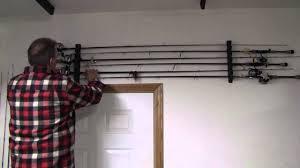 how to mount fishing rod racks youtube