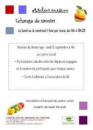 atelier cuisine centre social atelier cuisine centre social maison du canton