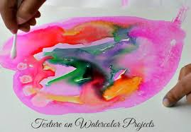 Art Activities For Kids Texture On Watercolor Projects