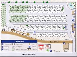W Campbell Cove RV Park Layout Map