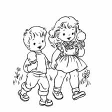 Coloring Page Boy And Girl AZ Pages