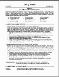 Account Representative Resume Sales