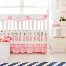 pink crib rail cover set pink baby bedding baby nursery