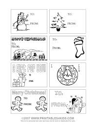 Print And Color Christmas Gift Tags Printables For Kids Free Word Search Puzzles Coloring Pages Other Activities