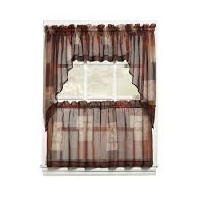 Curtain Grommet Kit Home Depot by Lichtenberg Semi Opaque Mocha Montego Grommet Kitchen Curtain