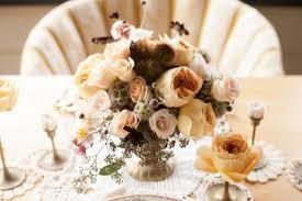 Peach Floral Centerpiece Joanna Tano Photography Rustic Wedding