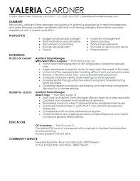 Retail Manager Resume Examples Template Info Intended For Assistant Samples