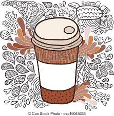 Cute Cartoon Doodle Coffee Cup