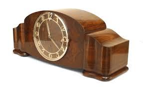 100 Mauthe Art Deco Walnut Mantel Clock NEWEL