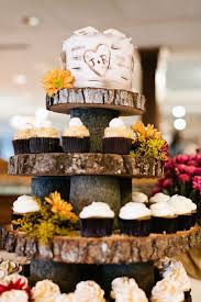 But With DonutsTree Bark Cupcake Tower Rustic Wedding Cake Tier On Top