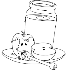 Apple And Honey Coloring Pages