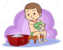 Prepare To Take Bath A Boy Put Off His Clothes Intended For