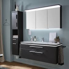 puris cool line badmöbel 120 cm mit spiegelschrank inkl flächenleuchte