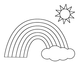 Nice Rainbow Printable Coloring Pages Rainbow Coloring Page For