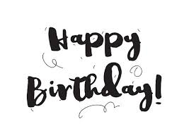 Happy birthday inscription Greeting card with calligraphy Hand drawn design