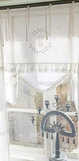 lillabelle weiß raff gardine ny 180x90 cm b x h scheiben küchen gardine vorhang vintage bandaufhängung