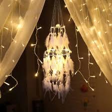 details zu led traumfänger licht nachtlicht hängende beleuchtung dekoration schlafzimmer de