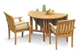 Teak Smith: 3 Pc Grade-A Teak Wood Outdoor Dining Set - 48