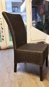 details zu rattan stühle esszimmer braun 6 stück