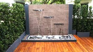 Wall Water Feature Ideas Creative Of Garden Features Spectacular