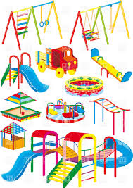 Children Playing On Playground Vector Id158990601 Clipart Childrens Download Royalty Free File EPS 50568
