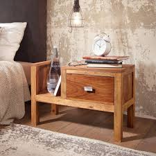 finebuy nachttisch fb37335 schubladenkommode aus sheesham massivholz stilvolle ablage neben dem bett im jugend und schlafzimmer kaufen