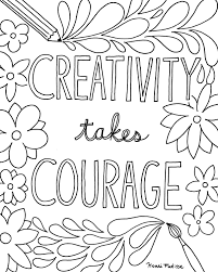 Free Printable Quote Coloring Pages For Grown Within Creative