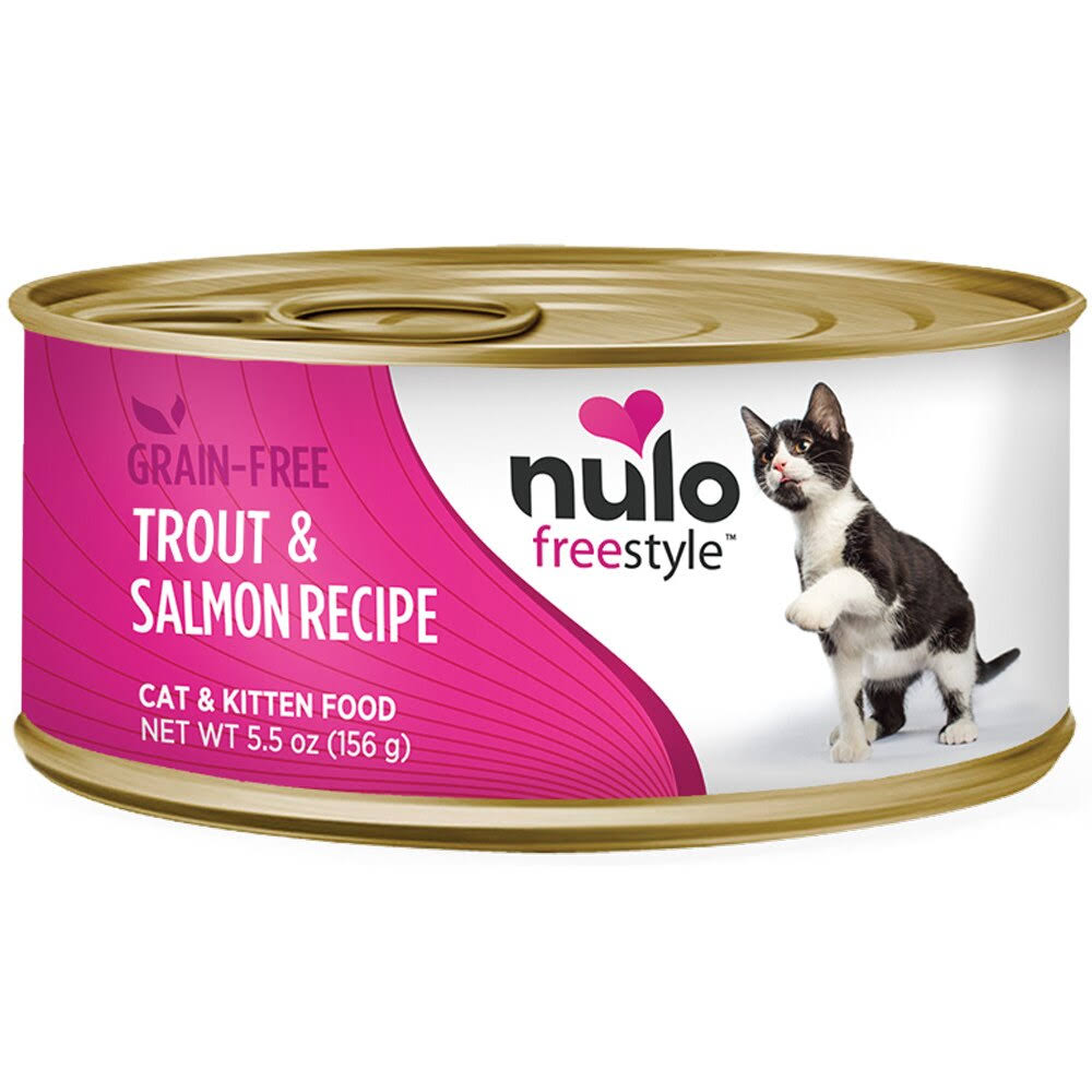 Nulo Freestyle Trout & Salmon Recipe Grain-Free Canned Cat & Kitten Food 5.5oz