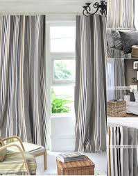 blackout modern gray striped curtains