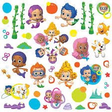 Bubble Guppies Bathroom Decor by Roommates Rmk2404scs Bubble Guppies Peel And Stick Wall Decals 1