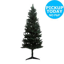 6ft Slim Black Christmas Tree by Home Lapland Indoor Artificial 6ft Christmas Tree White Black