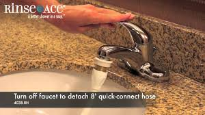 commercial hotel faucet aerator cleaning faucet hose by rinse