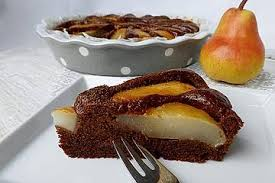 birnen schokolade kuchen