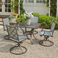 grand resort collins 5pc sling dining with granite limited