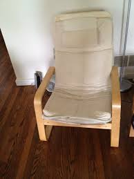 Ikea Poang Chair Cover by Diy Ikea Hack Poang Chair Cover