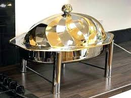 Chafing Dish Warmer Oval Sun Food Electric Round Restaurant Buffet Equipment Stainless Steel Dishes For F