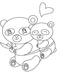Kawaii Bears Coloring Pages