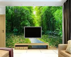 100 Bamboo Walls Beibehang Behang Poster Clear Nature Bamboo Trail Mural Wallpaper