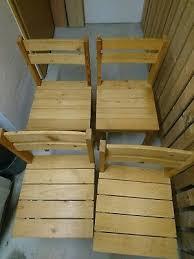holzstühle gebraucht massivholz stühle 4 stück eur 70 00