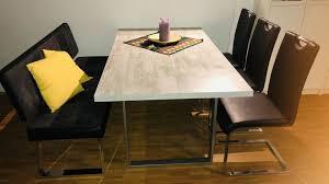 esszimmer set tisch stühle und bank