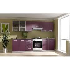 des cuisines toulouse toulouse cuisine complète 2m60 aubergine achat vente cuisine